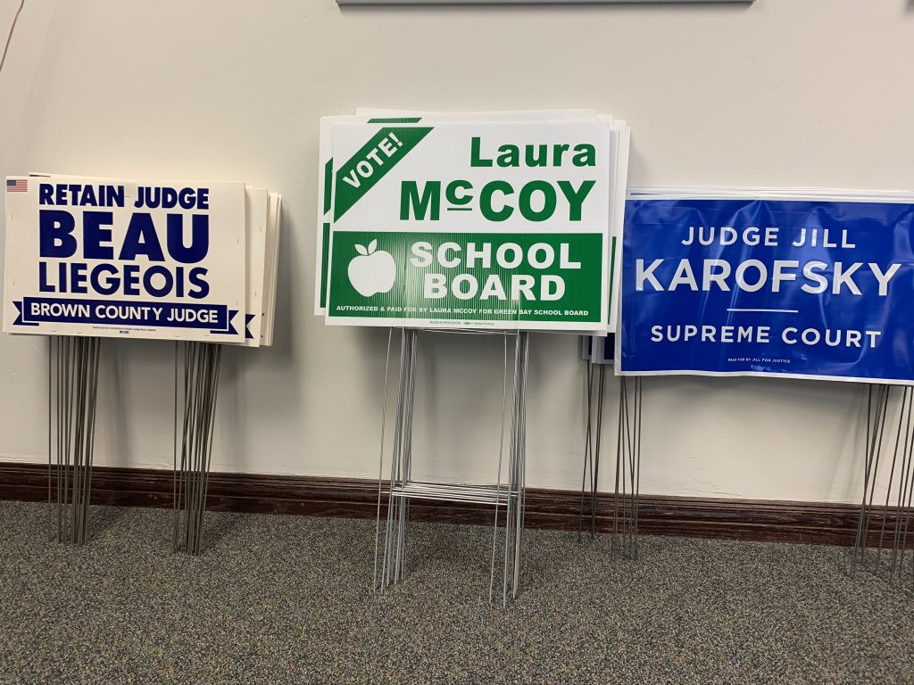 Signs for Liegeois,McCoy, Karofsky