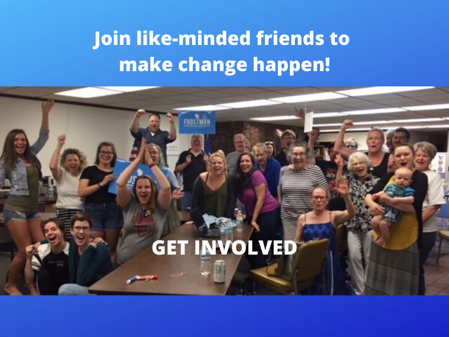 Join like-minded friends to make change happen. GET INVOLVED