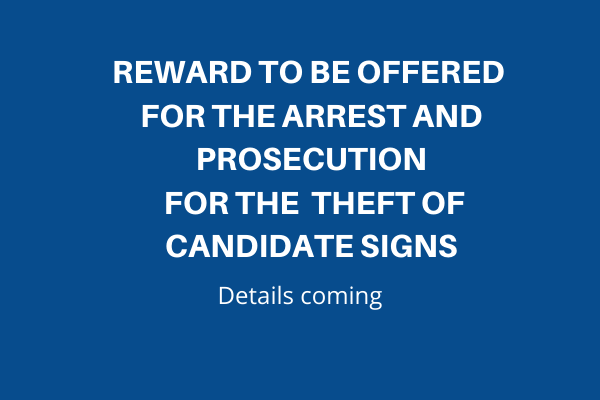 Sign Reward Offered