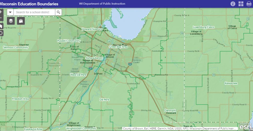 Shool District map