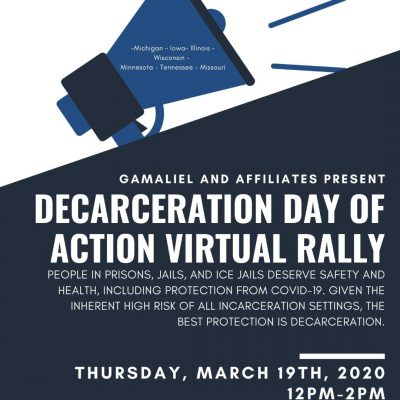Decarceration Day of of Action Virtual Rally
